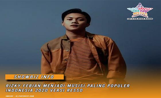 Star Radio - Rizky Febian menjadi musisi paling populer Indonesia 2020 versi Resso